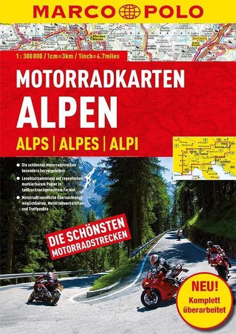 MARCO POLO Motorrad-Karten Alpen 1 : 300 000 al...