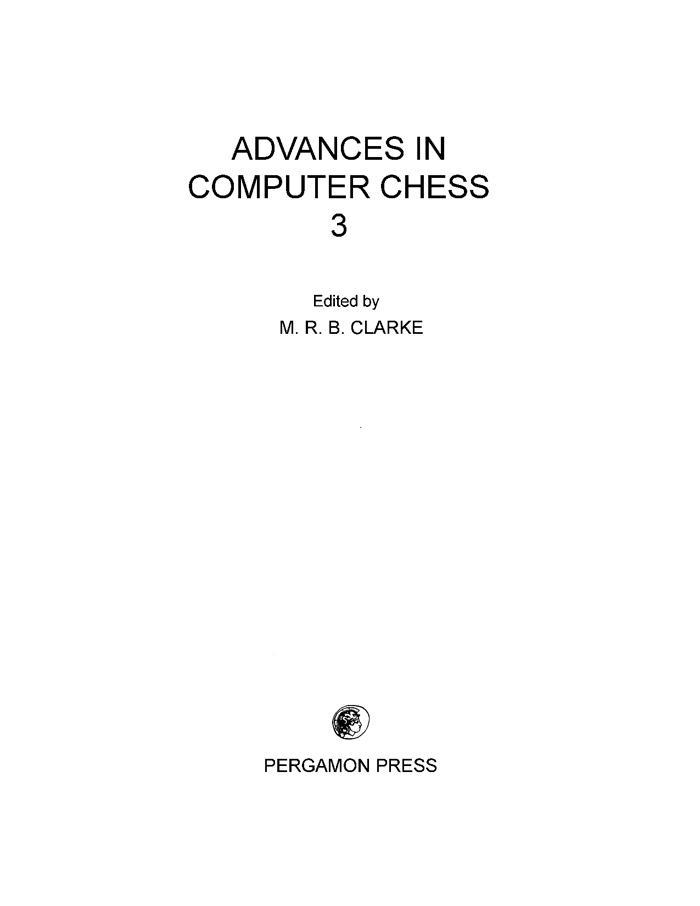 Advances in Computer Chess als eBook Download von