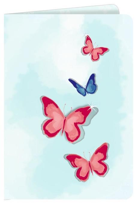 Grußkarte - Schmetterling