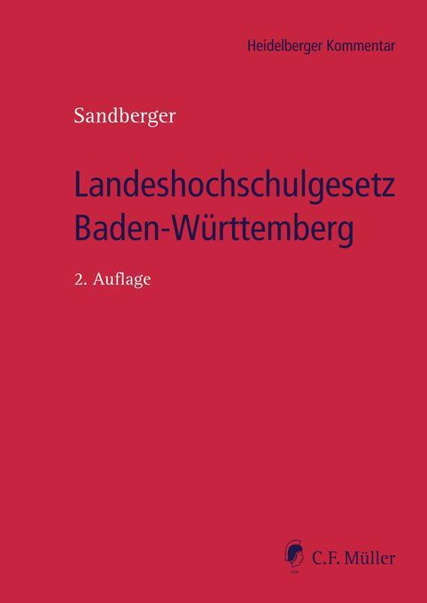 Landeshochschulgesetz Baden-Württemberg als Buc...