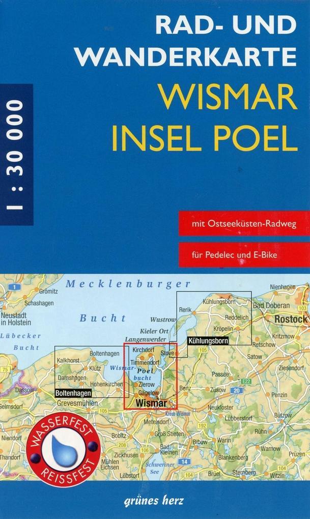 Wismar, Insel Poel 1 : 30 000 Rad- und Wanderka...