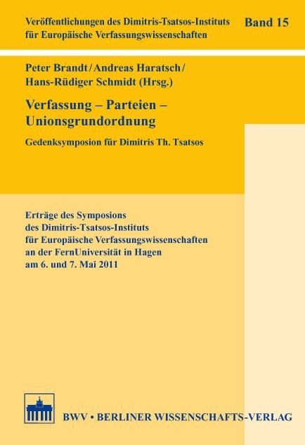 Verfassung - Parteien - Unionsgrundordnung als ...