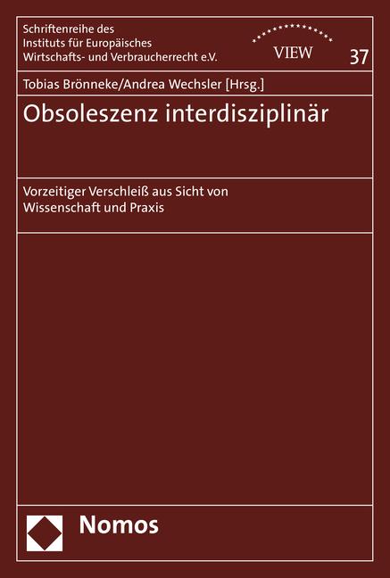 Obsoleszenz interdisziplinär als Buch von