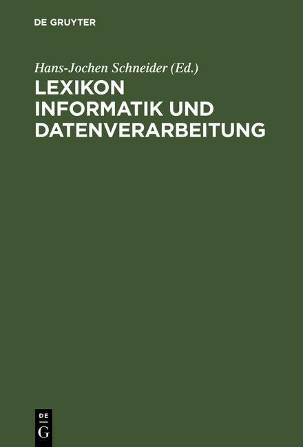 Lexikon Informatik und Datenverarbeitung als eB...