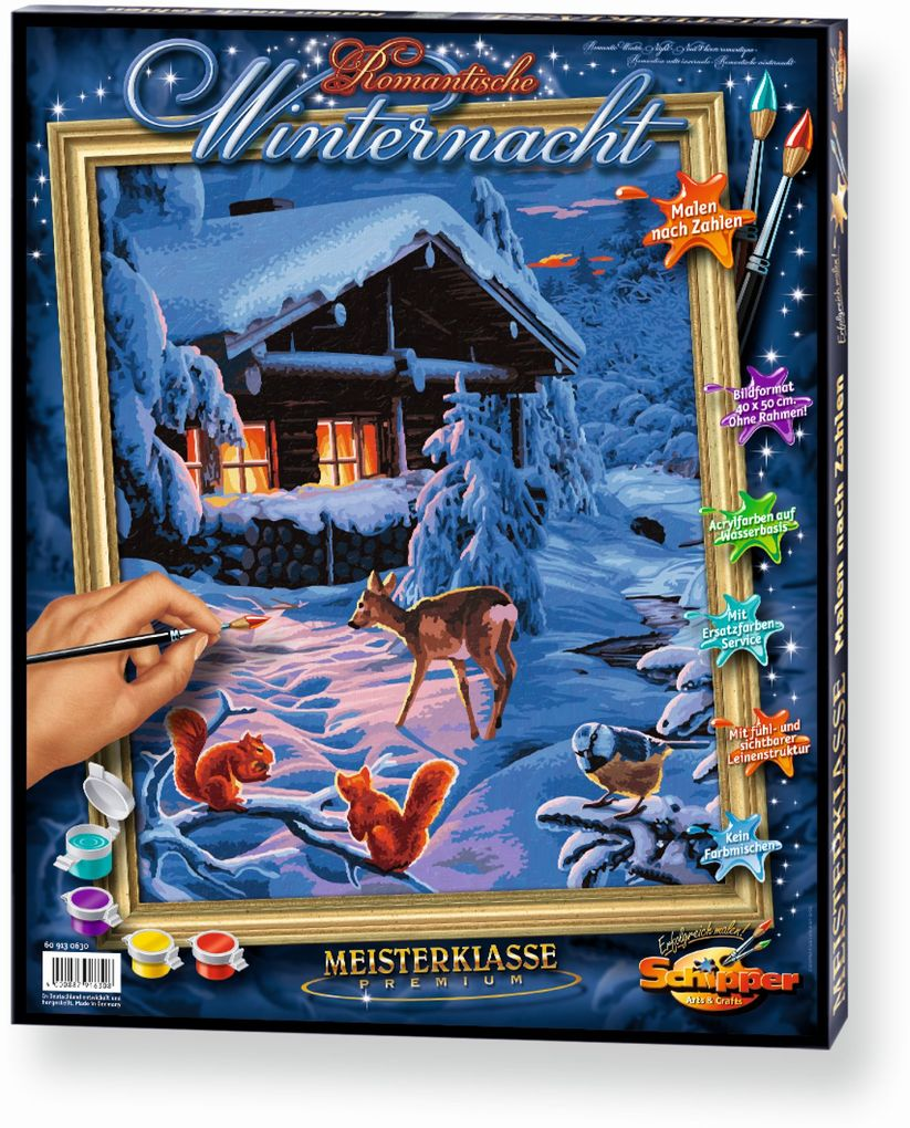 Schipper 609130630 - Romanatische Winternacht, ...