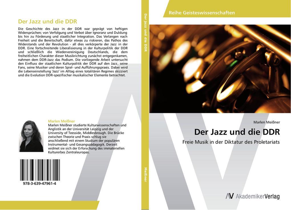 Der Jazz und die DDR als Buch von Marlen Meißner