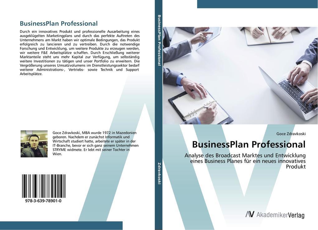BusinessPlan Professional als Buch von Goce Zdr...