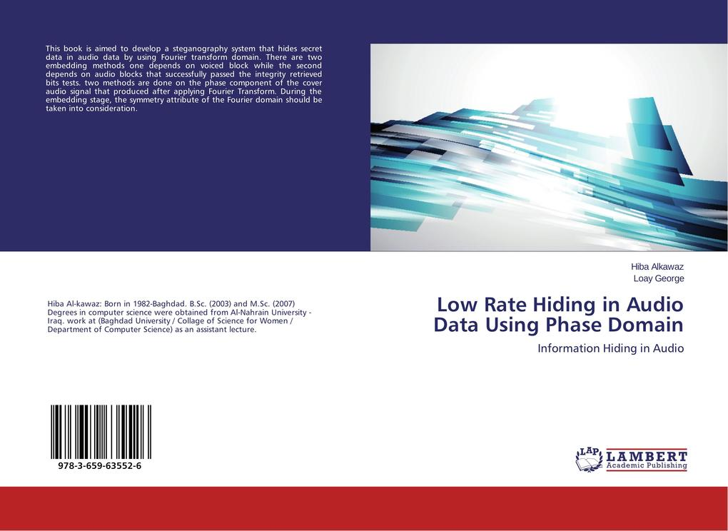 Low Rate Hiding in Audio Data Using Phase Domai...