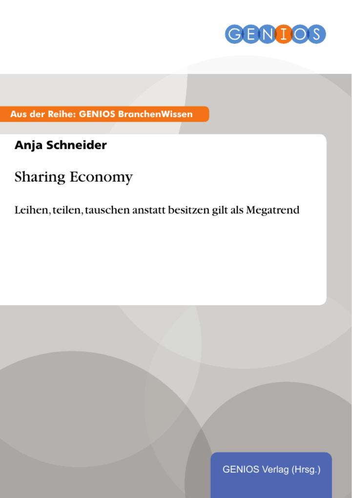 Sharing Economy als eBook Download von Anja Sch...