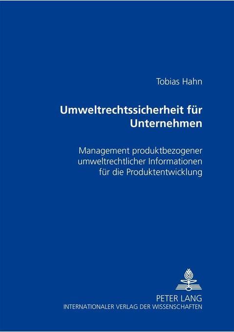 Umweltrechtssicherheit für Unternehmen als Buch...