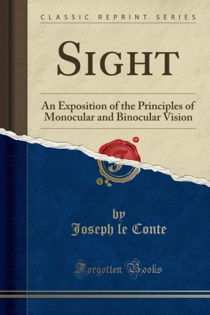 Sight als Taschenbuch von Joseph le Conte