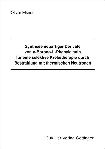 Synthese neuartiger Derivate von p-Borono-L-Phe...