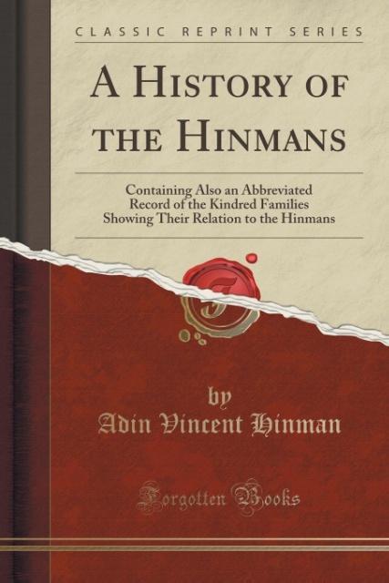 A History of the Hinmans als Taschenbuch von Ad...