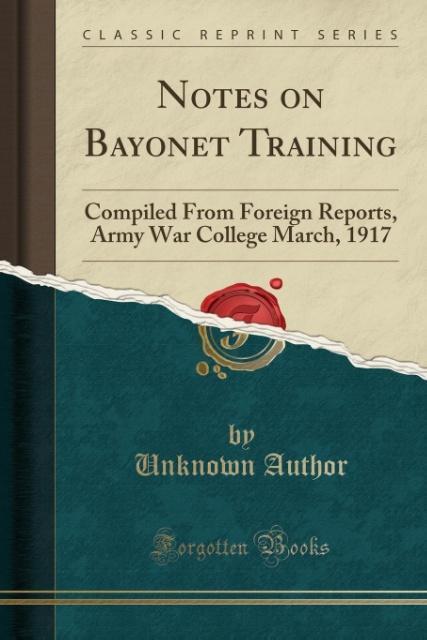 Notes on Bayonet Training als Taschenbuch von U...