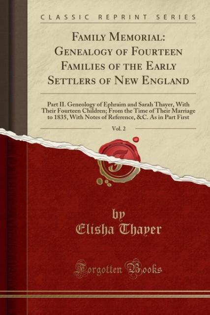 Family Memorial als Taschenbuch von Elisha Thayer