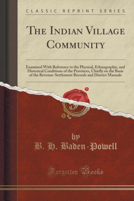 The Indian Village Community als Taschenbuch vo...