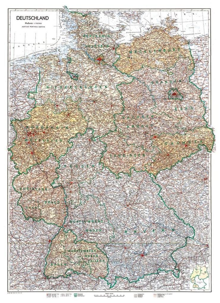 Karte von DEUTSCHLAND 1949 [Besatzungszonenkart...