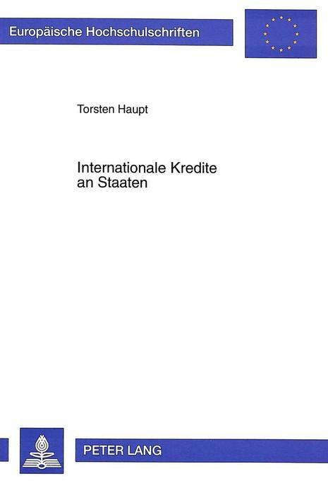 Internationale Kredite an Staaten als Buch von ...