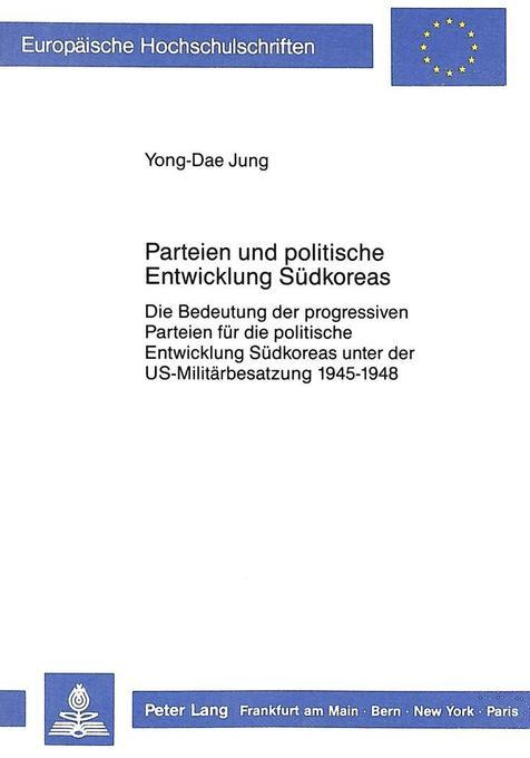 Parteien und politische Entwicklung Südkoreas a...