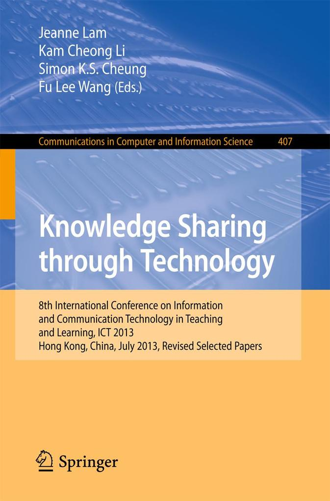 Knowledge Sharing Through Technology als eBook ...
