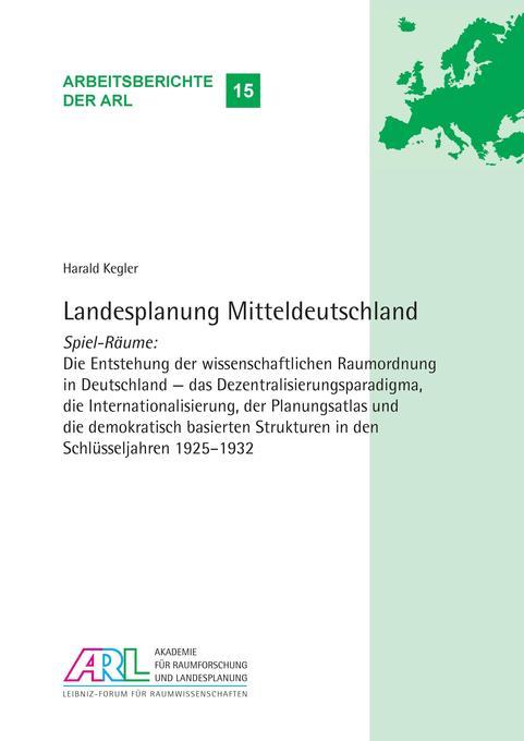 Landesplanung Mitteldeutschland als Buch von Ha...