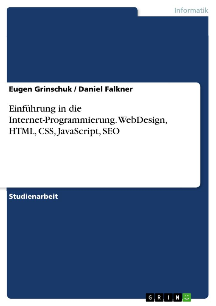 Einführung in die Internet-Programmierung. WebD...