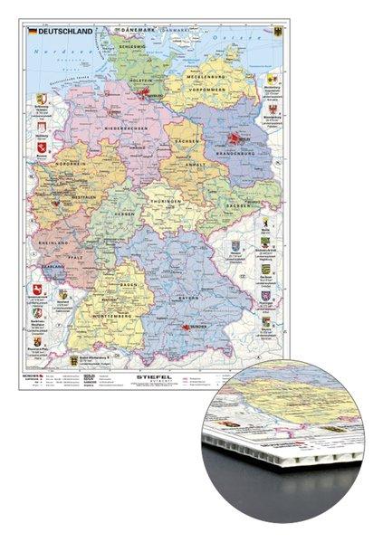 Deutschland politisch mit Wappen zum Pinnen auf...
