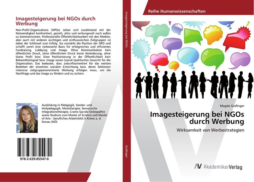 Imagesteigerung bei NGOs durch Werbung als Buch...