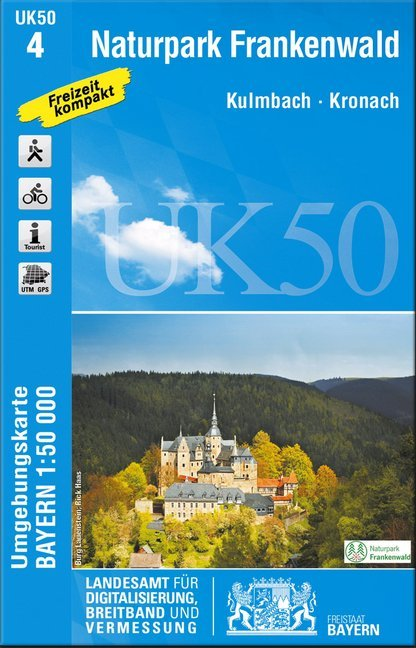 Naturpark Frankenwald 1 : 50 000 (UK50-4) als B...