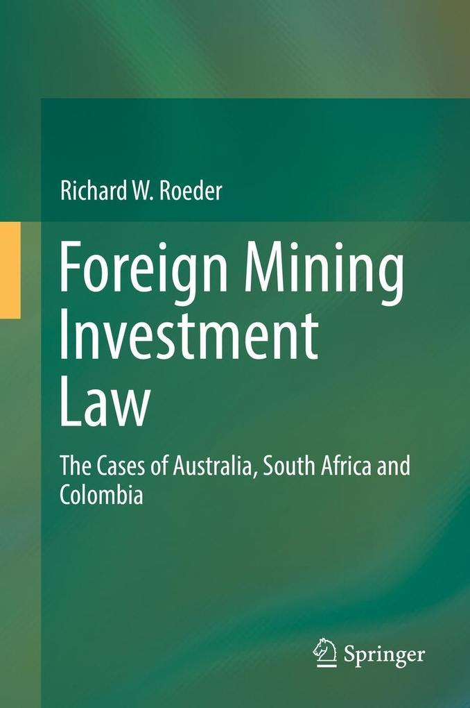 Foreign Mining Investment Law als eBook Downloa...