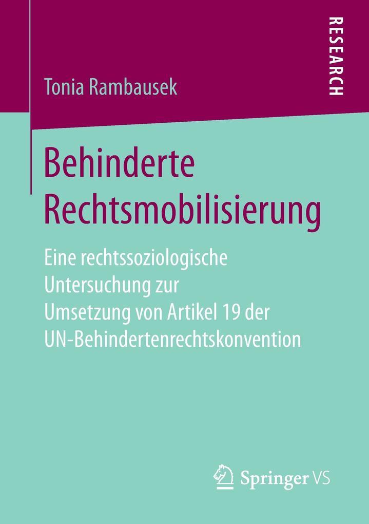 Behinderte Rechtsmobilisierung als Buch von Ton...