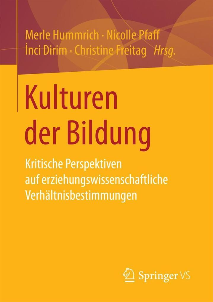 Kulturen der Bildung als eBook Download von