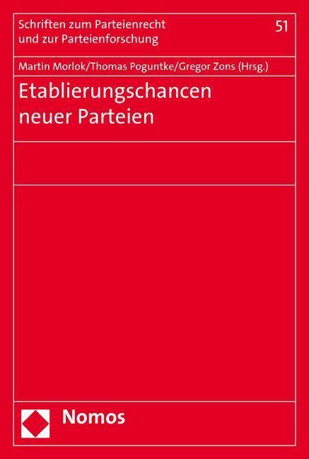 Etablierungschancen neuer Parteien als Buch von