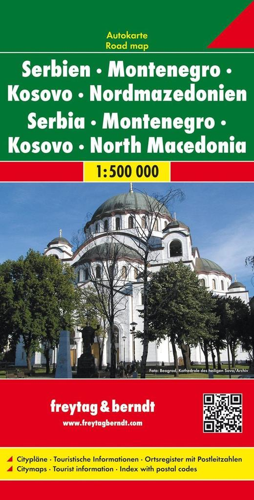 Serbien / Montenegro / Mazedonien 1 : 500 000. ...