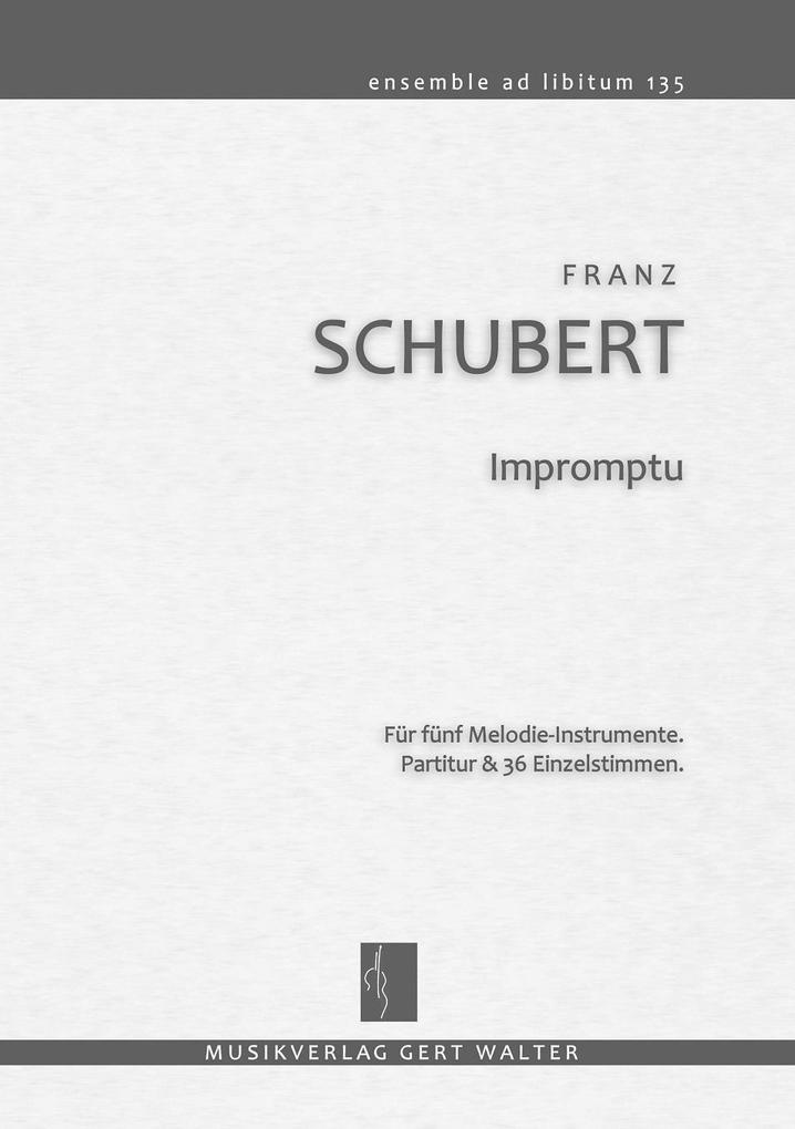 Impromptu als Buch von Franz Schubert