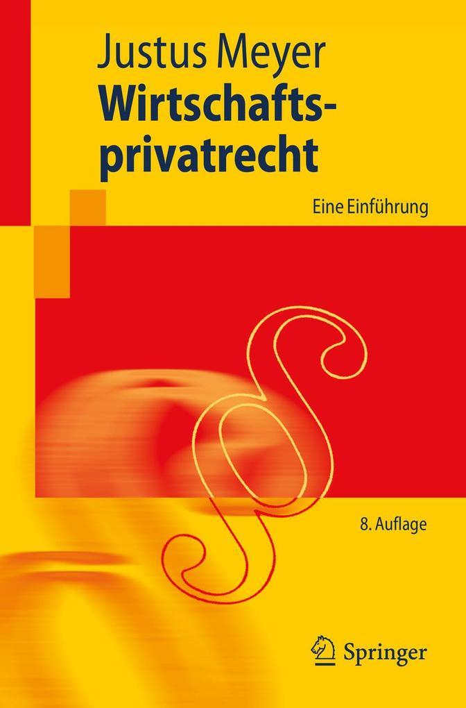 Wirtschaftsprivatrecht als eBook Download von J...