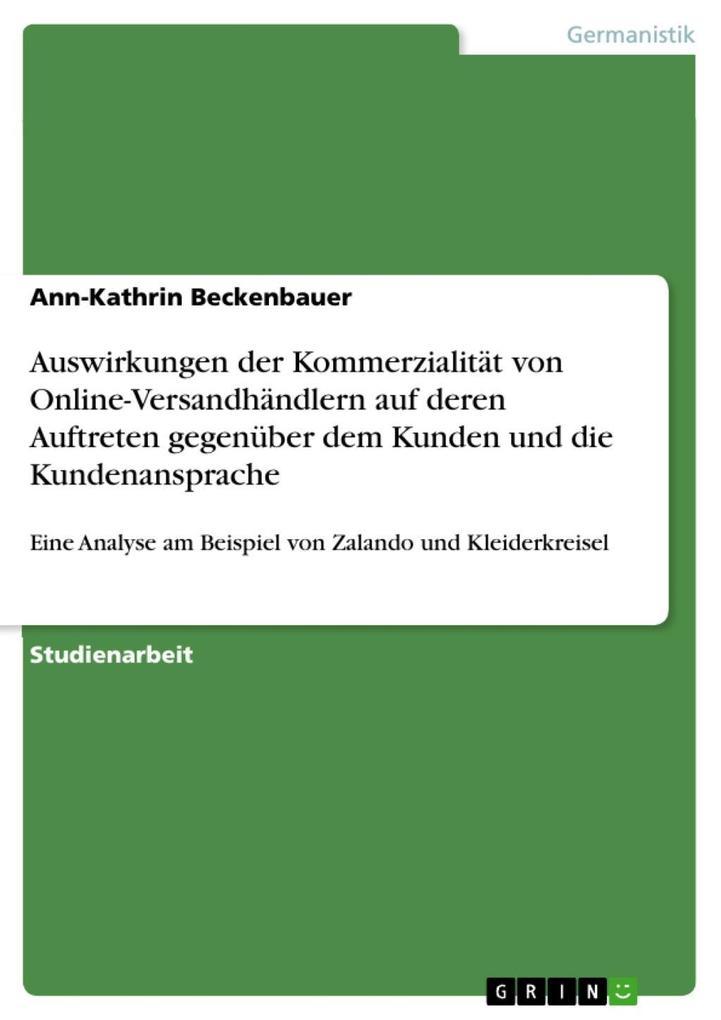 Auswirkungen der Kommerzialität von Online-Vers...