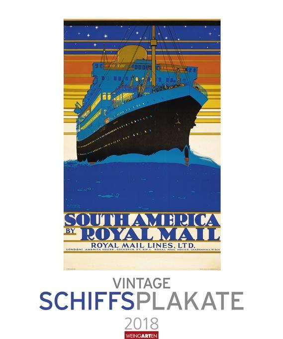 Vintage Schiffsplakate - Kalender 2018