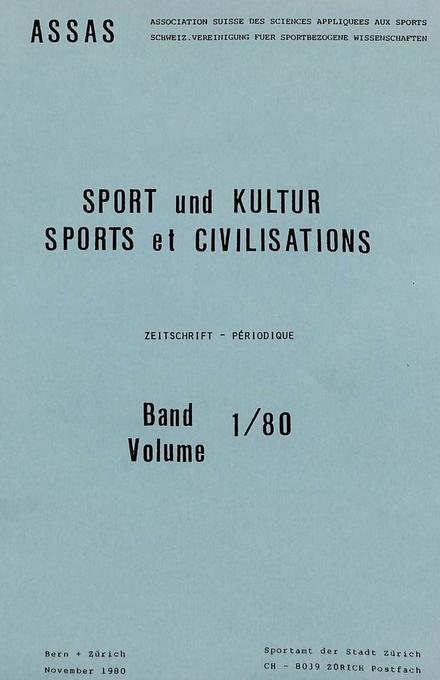 Sport und Kultur / Sports et civilisations als ...