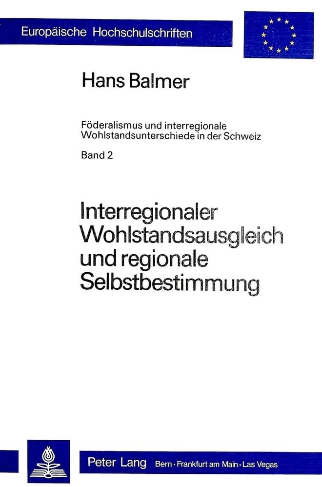 Interregionaler Wohlstandsausgleich und regiona...
