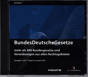 BundesDeutscheGesetze 1/2017, CD-ROM