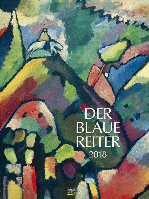 Der Blaue Reiter 2018. Kunst Gallery Kalender