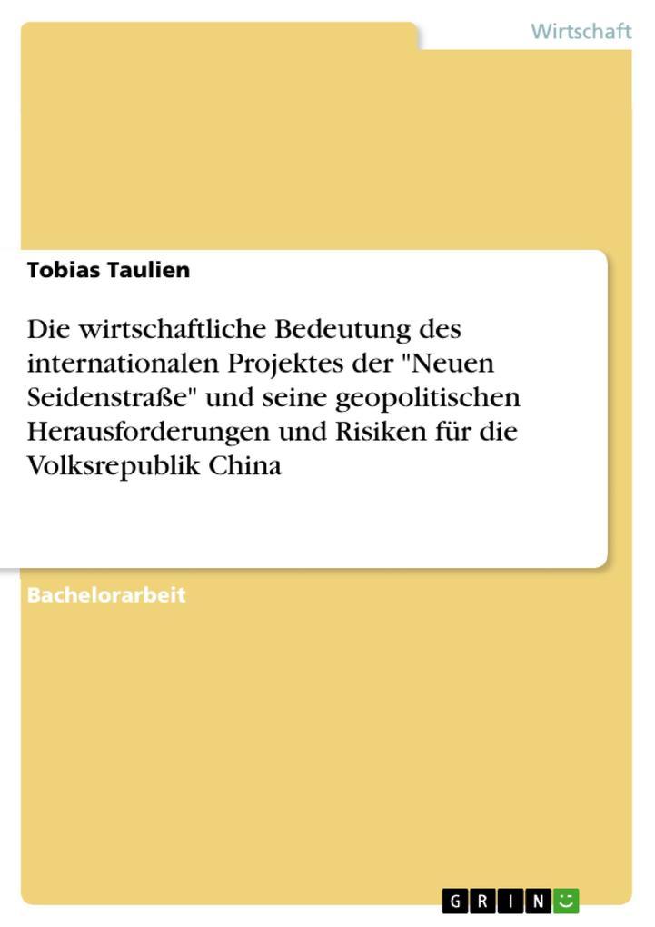 Die wirtschaftliche Bedeutung des international...