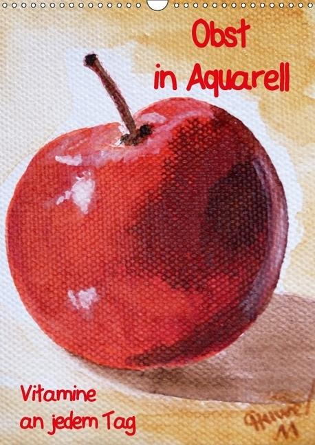 Obst in Aquarell, Vitamine an jedem Tag (Wandka...