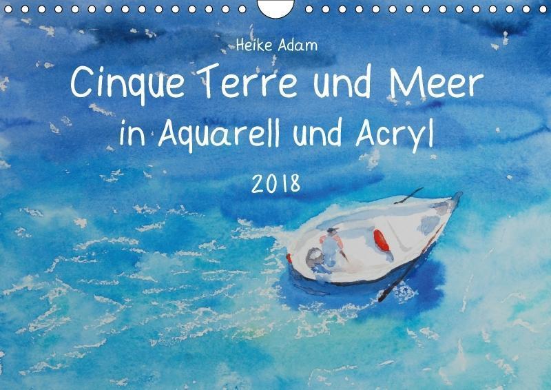 Cinque Terre und Meer in Aquarell und Acryl (Wa...