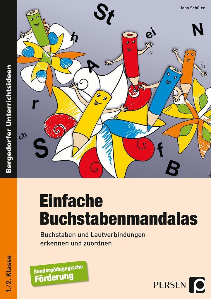Einfache Buchstabenmandalas als Buch von Jana S...