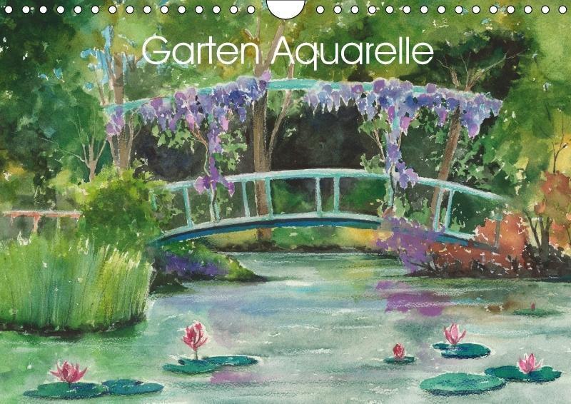 Garten Aquarelle (Wandkalender 2018 DIN A4 quer...