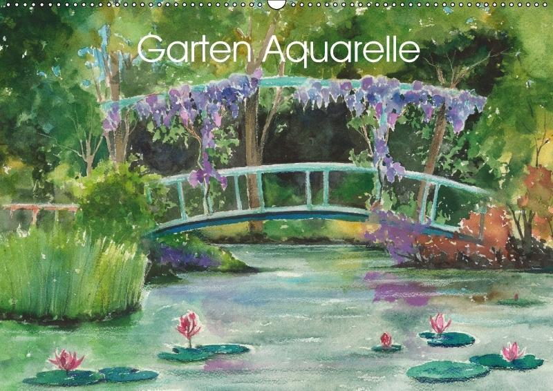 Garten Aquarelle (Wandkalender 2018 DIN A2 quer...