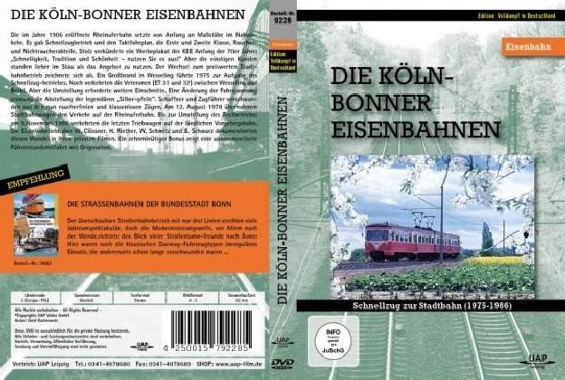 Die Köln Bonner-Eisenbahnen, DVD