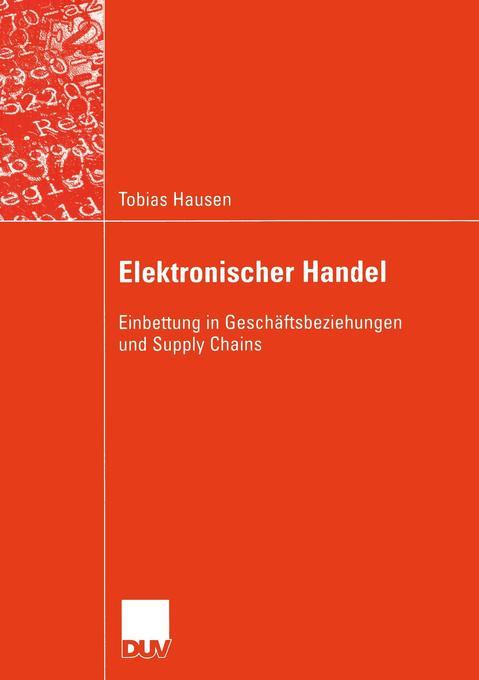 Elektronischer Handel als Buch von Tobias Hausen